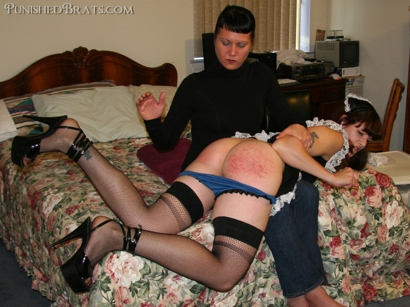 spanked French pics maid