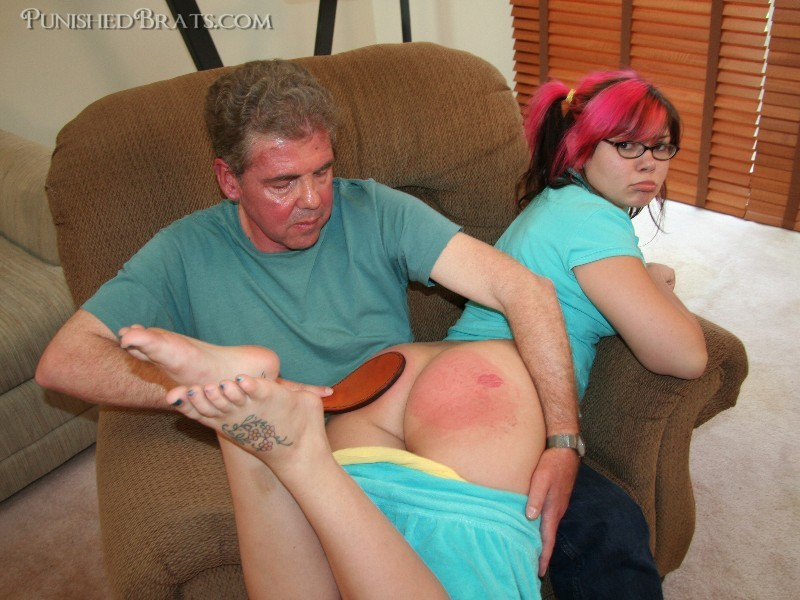 David Pierson spanking Morgan Mae